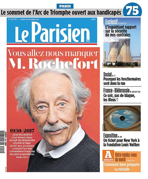 télécharger Le Parisien + 3 Départements Du Mardi 10 Octobre 2017