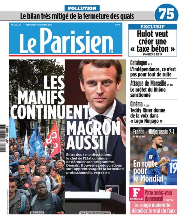 télécharger Le Parisien + 3 Départements Du Mercredi 11 Octobre 2017
