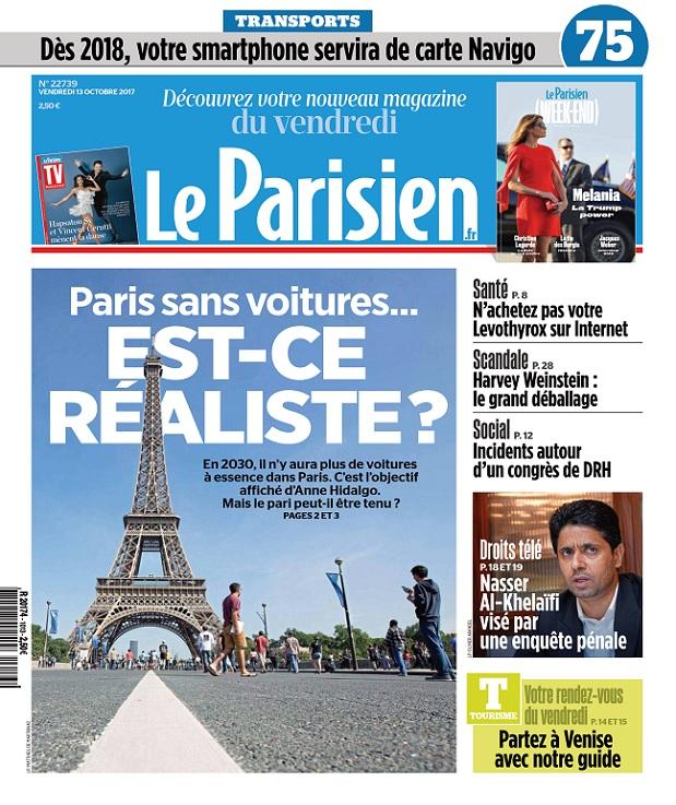 Le Parisien Du Vendredi 13 Octobre 2017