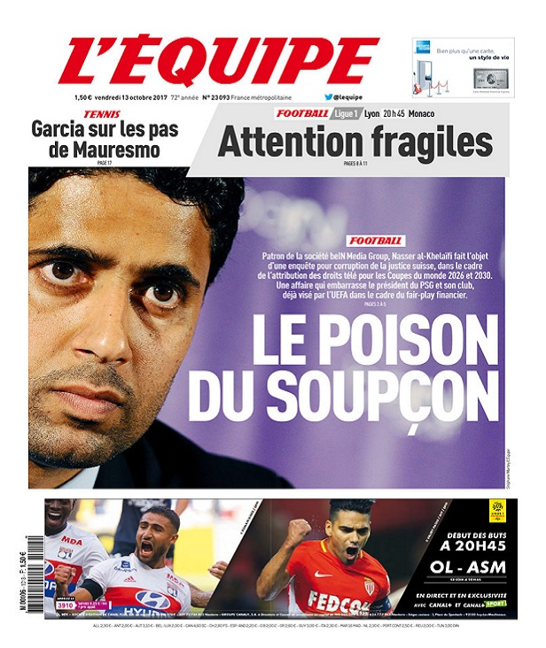 télécharger L'Equipe Du Vendredi 13 Octobre 2017