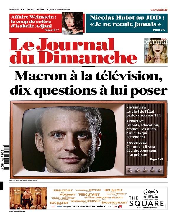 télécharger Le Journal Du Dimanche N°3692 Du 15 Octobre 2017