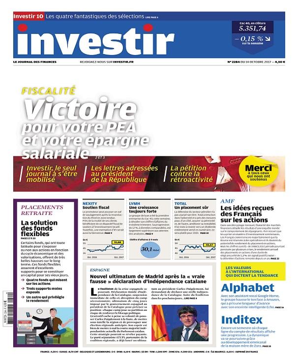 télécharger Investir N°2284 Du 14 Octobre 2017