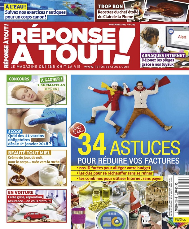 télécharger Réponse À Tout ! N°329 - Novembre 2017