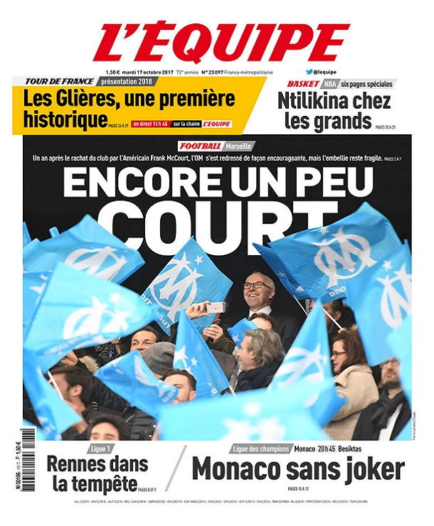 télécharger L'Equipe Du Mardi 17 Octobre 2017