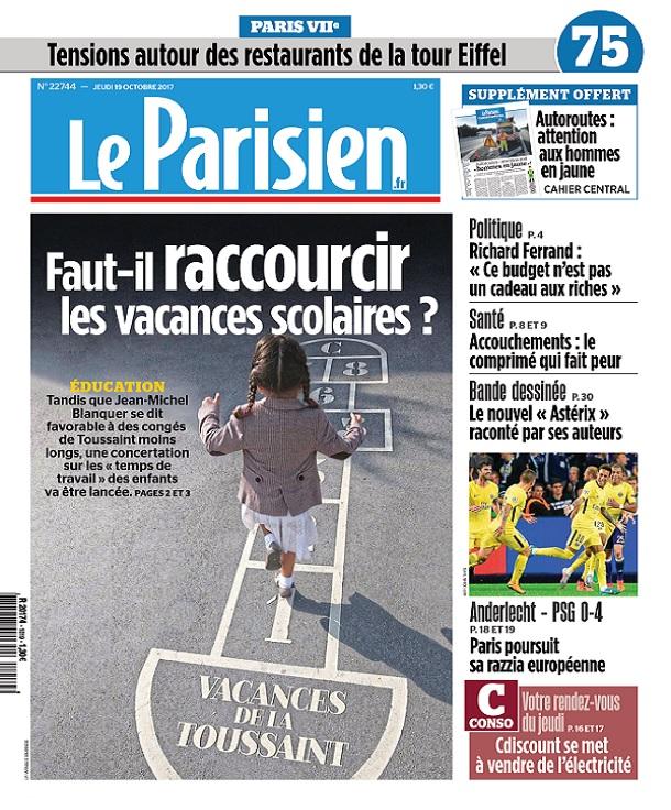 télécharger Le Parisien Du Jeudi 19 Octobre 2017