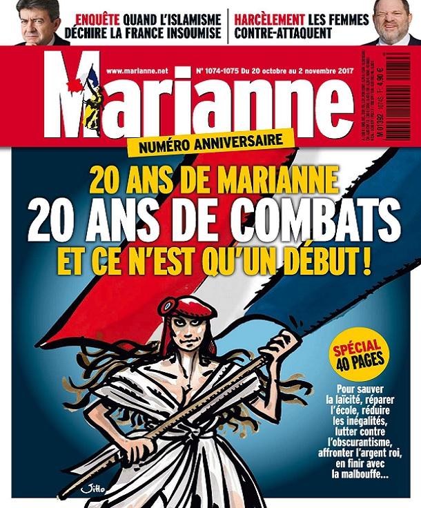 télécharger Marianne N°1074 Du 20 Octobre 2017