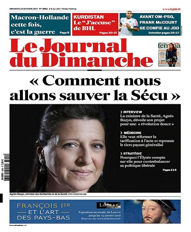 télécharger Le Journal Du Dimanche N°3693 Du 22 Octobre 2017