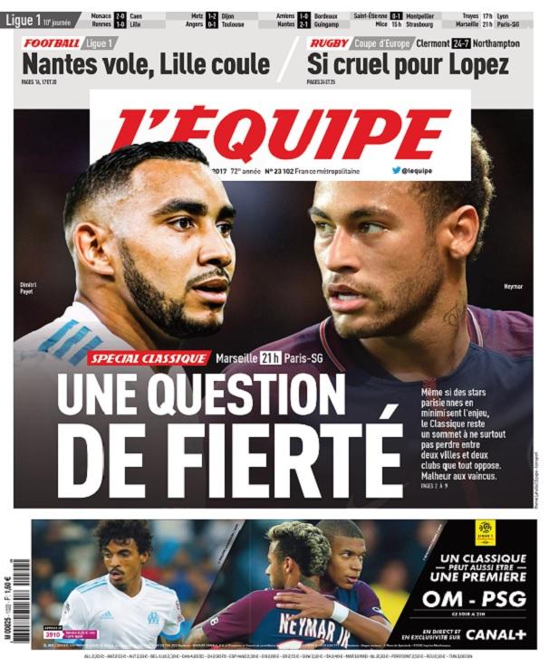 télécharger L'Equipe Du Dimanche 22 Octobre 2017
