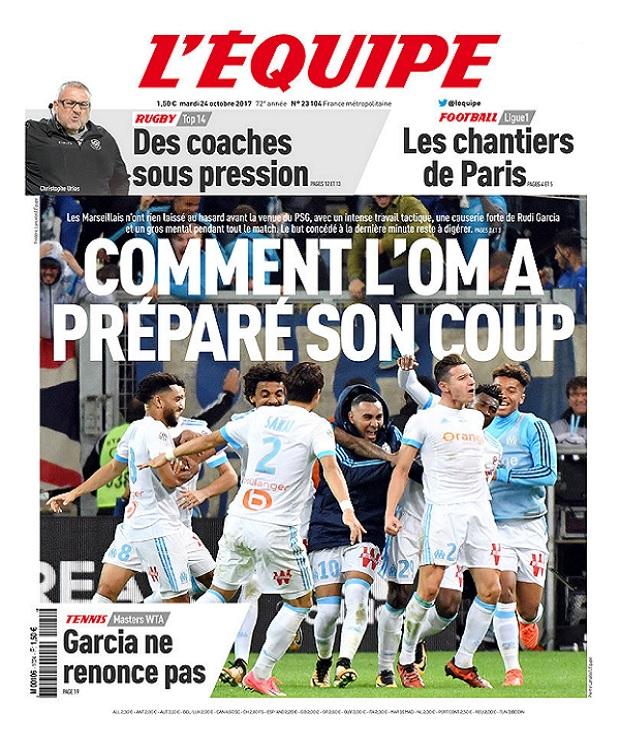 télécharger L'Equipe Du Mardi 24 Octobre 2017