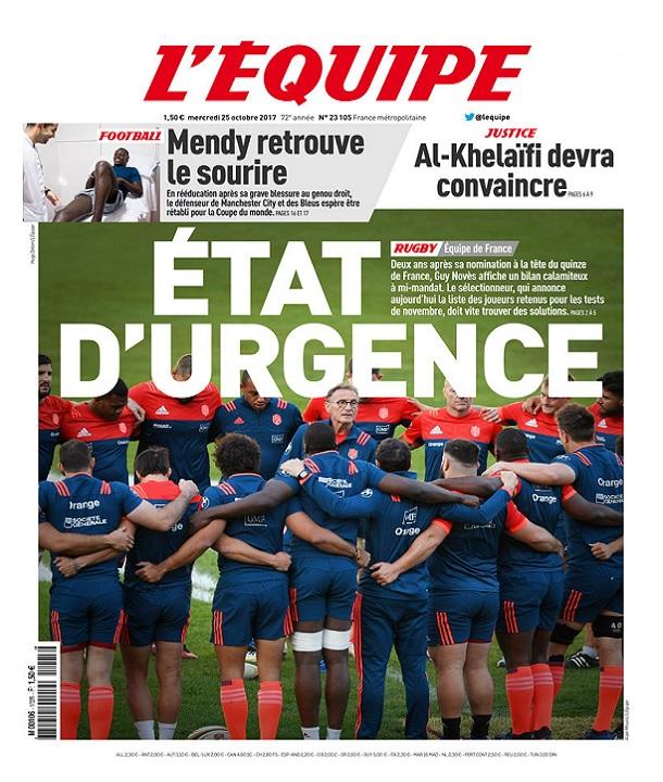 télécharger L'Equipe Du Mercredi 25 Octobre 2017