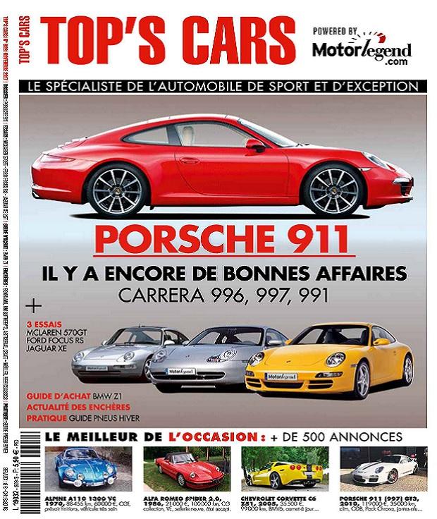 télécharger Top's Cars Magazine N°609 - Novembre 2017