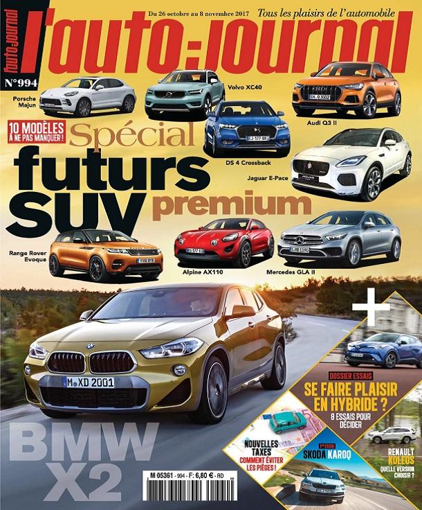 télécharger L'Auto-Journal N°994 Du 26 Octobre 2017