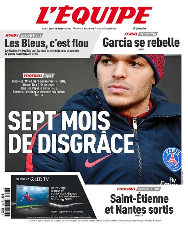 télécharger L'Equipe Du Jeudi 26 Octobre 2017