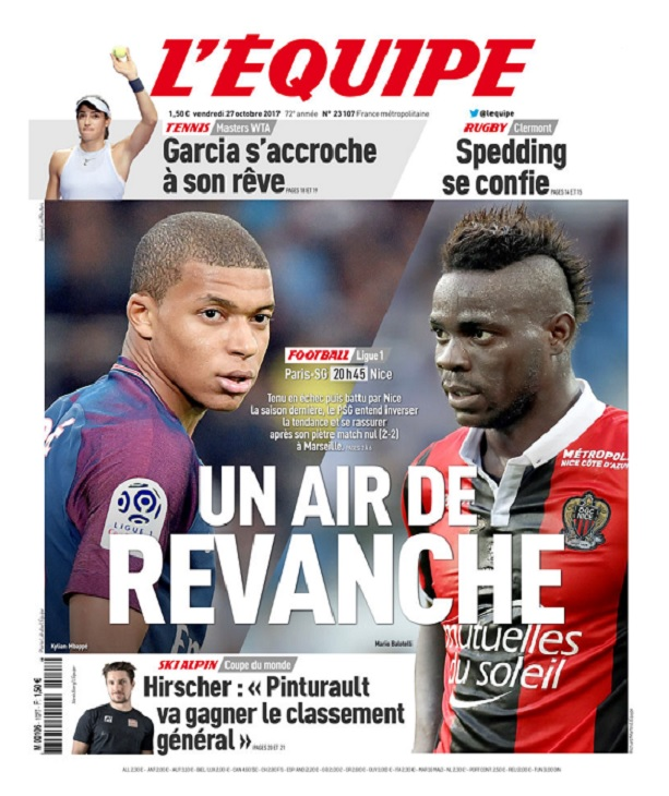 télécharger L'Equipe Du Vendredi 27 Octobre 2017