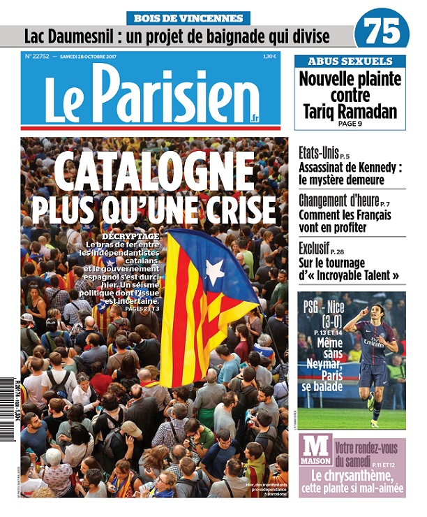 télécharger Le Parisien Du Samedi 28 Octobre 2017
