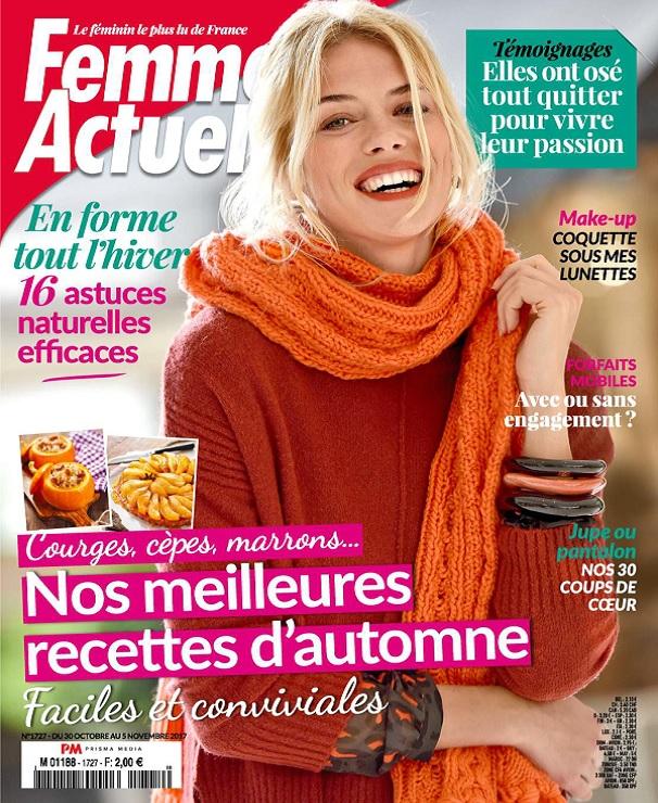 télécharger Femme Actuelle N°1727 Du 30 Octobre 2017