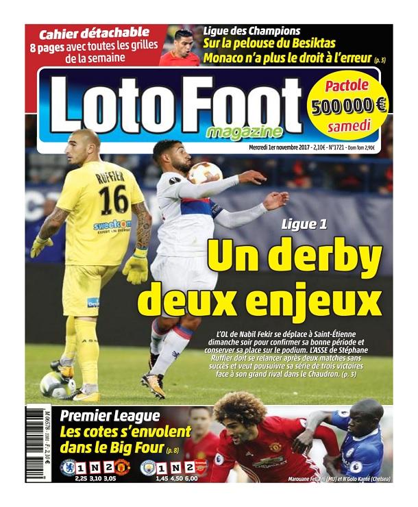 télécharger Loto Foot N°1721 Du 1er Novembre 2017