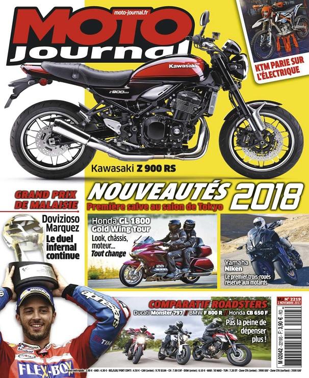 télécharger Moto Journal N°2219 Du 2 Novembre 2017