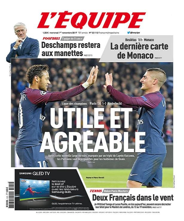 télécharger L'Equipe Du Mercredi 1er Novembre 2017