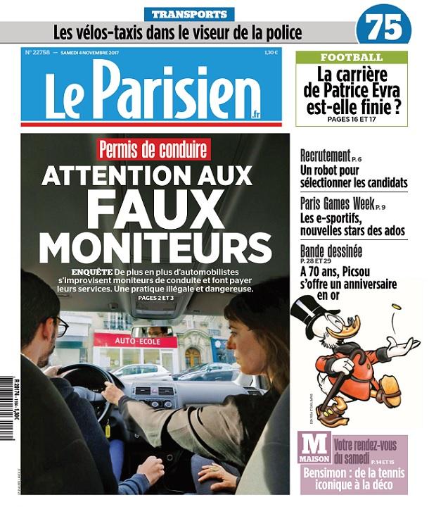 télécharger Le Parisien Du Samedi 4 Novembre 2017