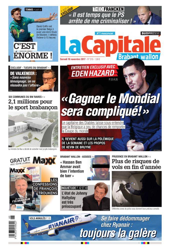 La capitale 18 11 17 Belgique