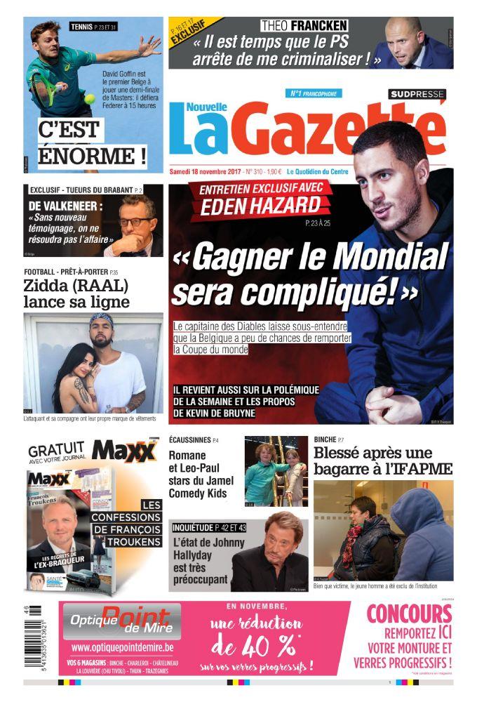 La gazette 18 11 17 Belgique