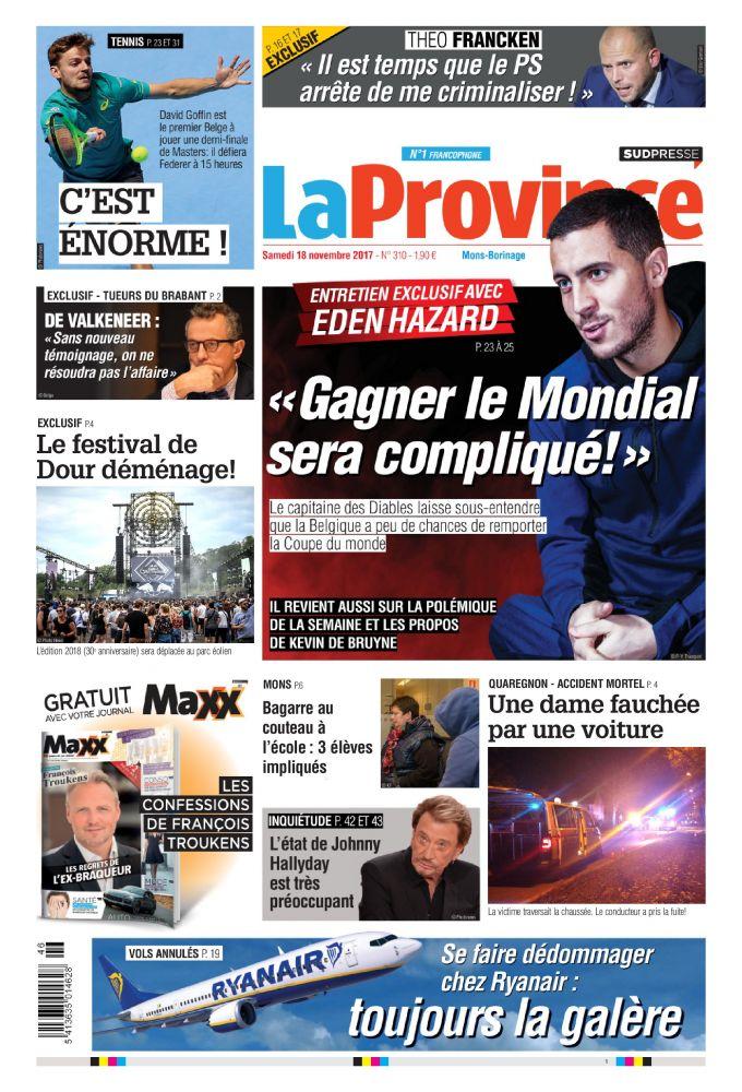 La province 18 11 17 Belgique