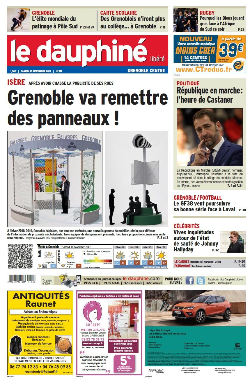 Le dauphiné libéré 18 11 17 éd Grenoble