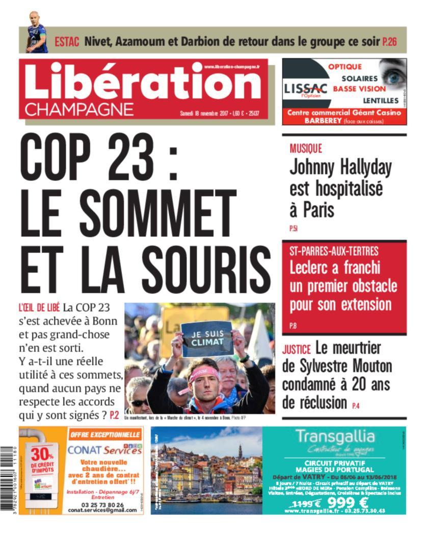 Libération Champagne 18 11 17