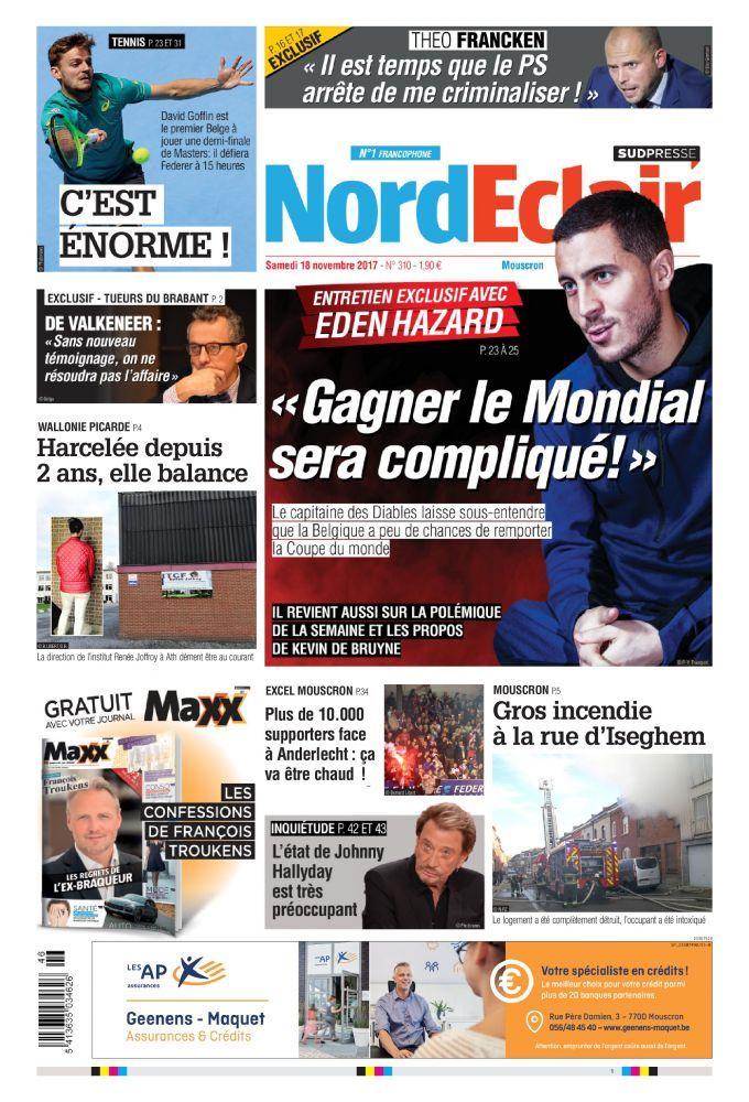 Nord Éclair 18 11 17 Belgique