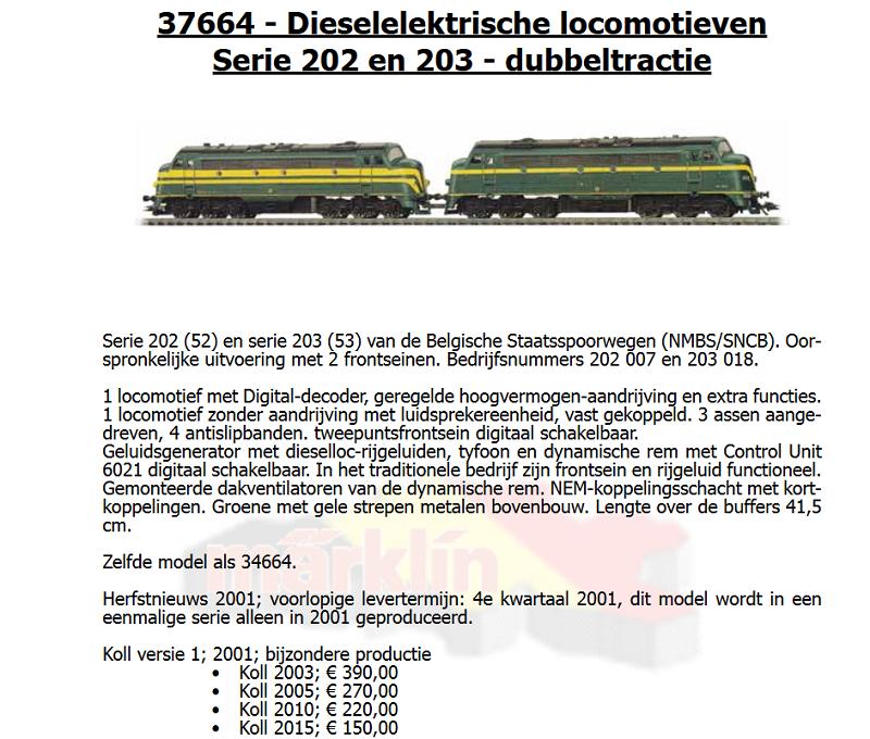 Märklin 37664 - double traction séries 202+203 digital 171121095638692950