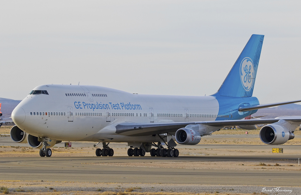 747 test bed GE with LEAP