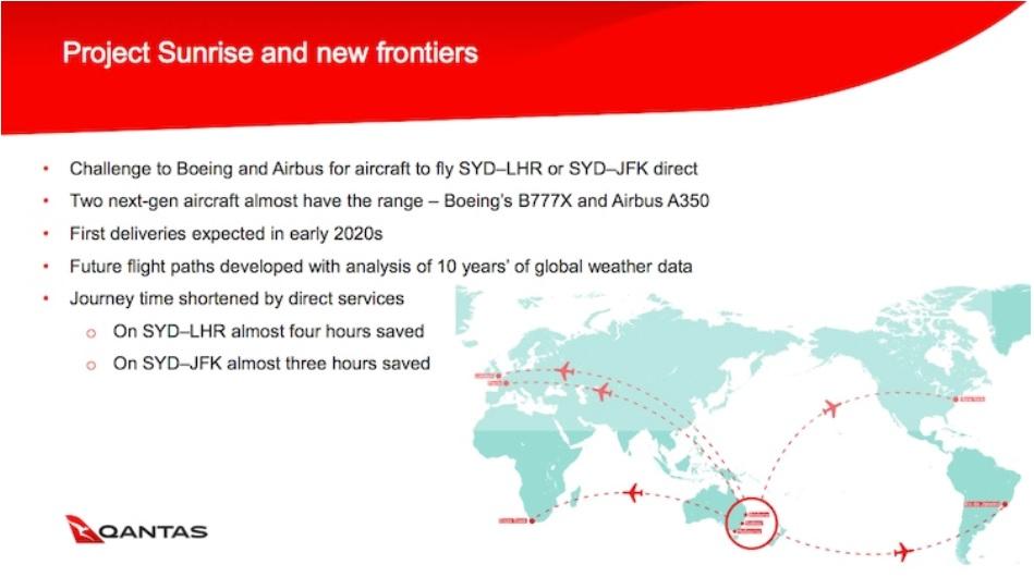 qantas surise project b 777x vs a 350 900 ulr