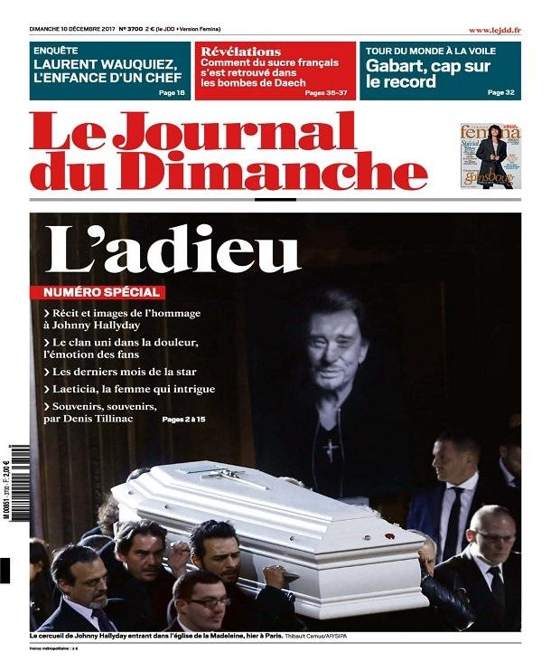 télécharger Le Journal Du Dimanche N°3700 Du 10 Décembre 2017