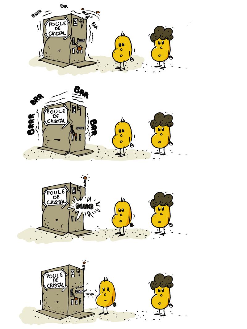 Les Kartofs - Blog BD de Patates - vampire macho