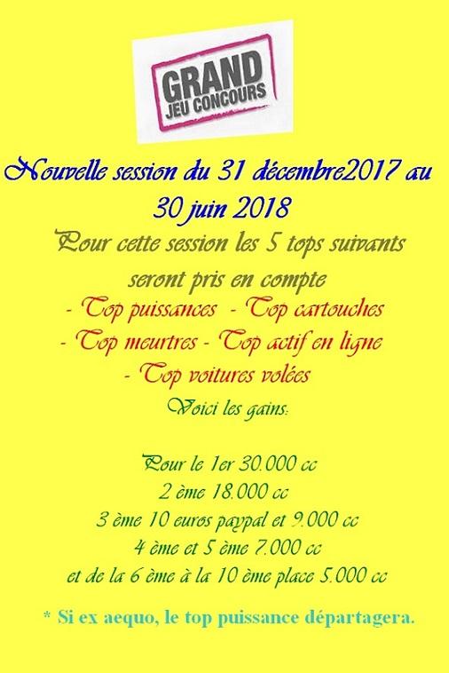 Nouveau concours kill janvier 2018