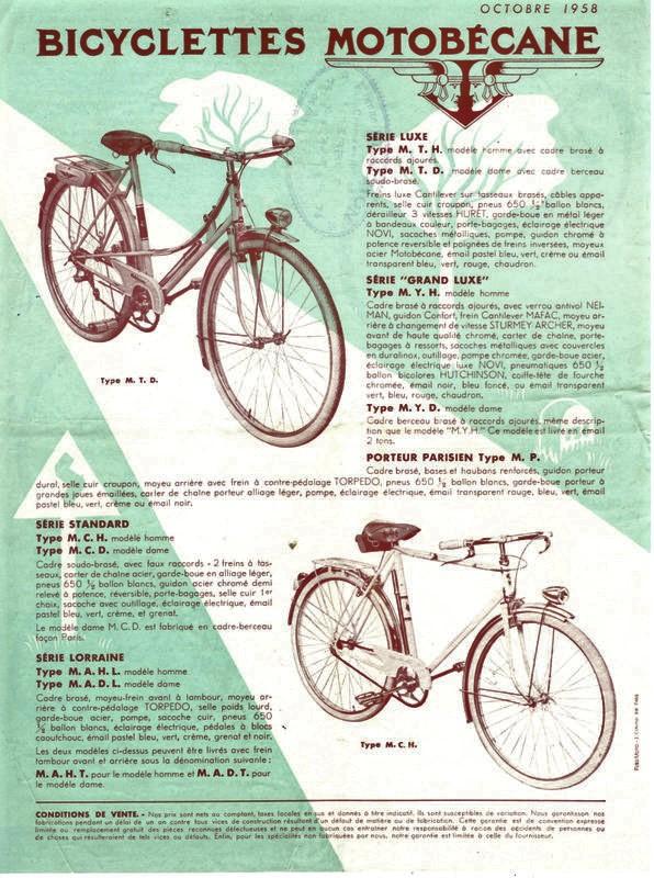 Catalogue Motobécane 1958-