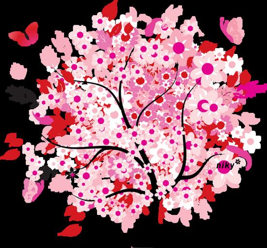 arbre rose niky