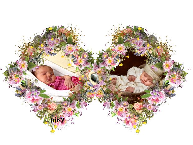 bébé double fleurs