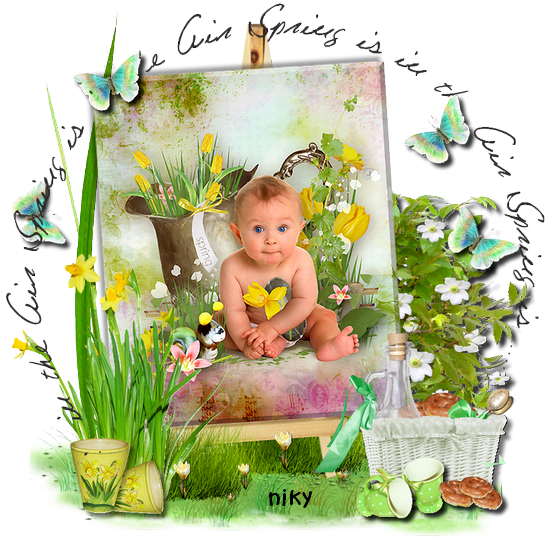 bébé printemps