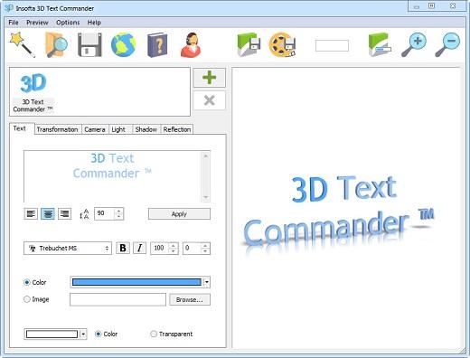 insofta 3d text commander v3.0 portable