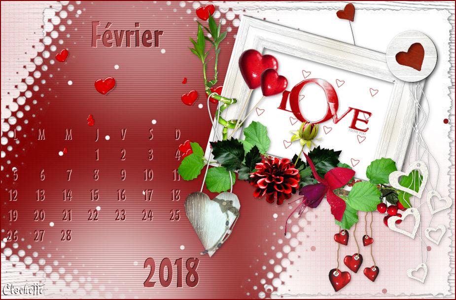 Calendrier de Février 2018 180201100132771344