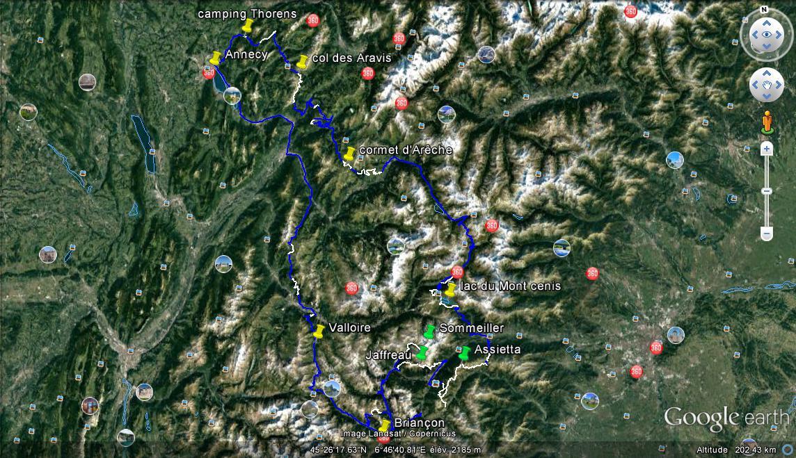 Alpes 2018 traces