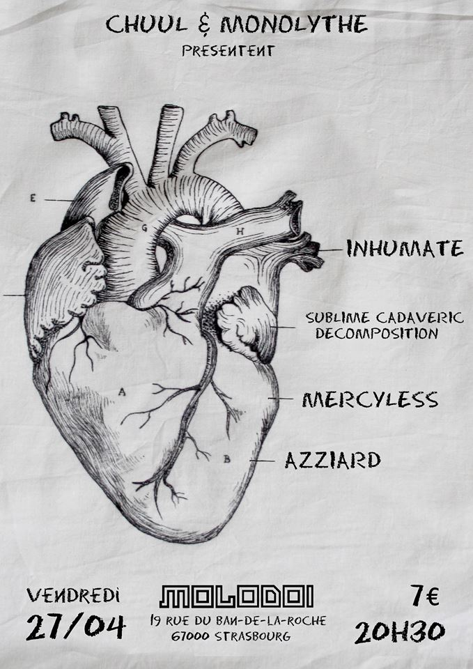 Inhumate, Sublime Cadaveric Decomposition, Mercyless...