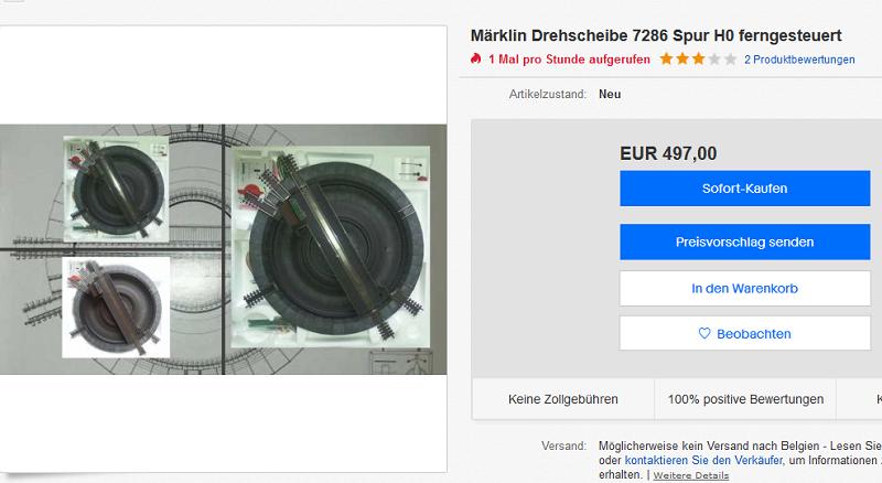 Implantation de voies C sur Märklin 7186 180217104400187909