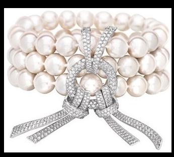 bracelet nougatine perles et diamant