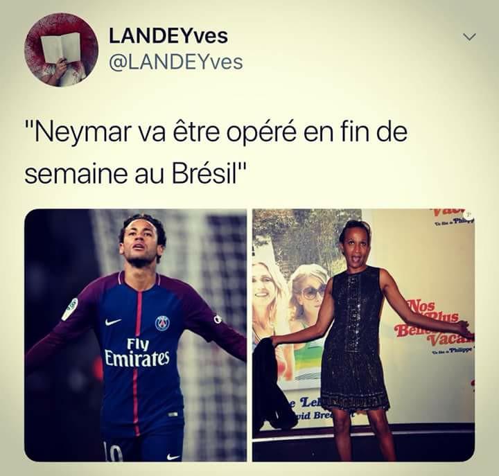 Neymar opéré