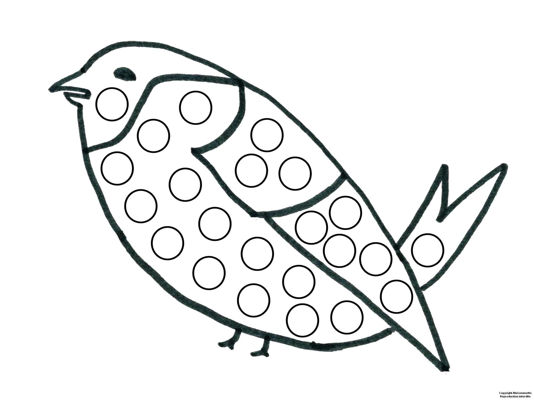 Modele De Dessin Pour Gommettes Oiseau Magommette