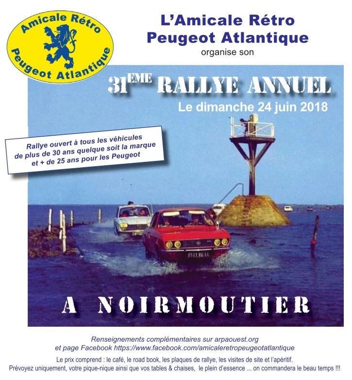 24 Juin - 31ème Rallye de l'Amicale Rétro Peugeot Atlantique 180412092329918880