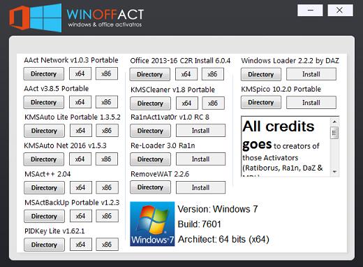 Winoffact v1.0 – Windows & Office Activator 180419044856370983